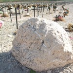 Mass gravesite for earthquake victims